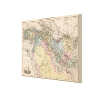 Asiatic Turkey and Persia Canvas Print