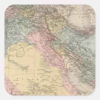 Asiatic Turkey and Persia Square Sticker