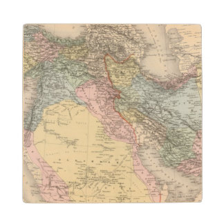 Asiatic Turkey and Persia Wood Coaster