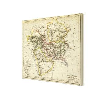 Asiatic Turkey, Persia, Afghanistan Canvas Print