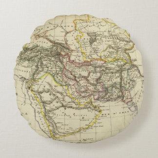 Asiatic Turkey, Persia, Afghanistan Round Cushion