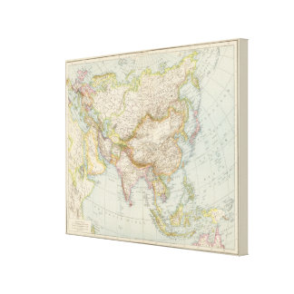 Asien - Map of Asia Canvas Print