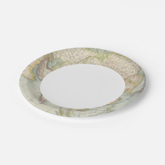 Asien - Map of Asia Paper Plate