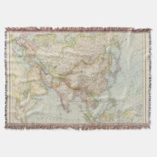 Asien - Map of Asia Throw Blanket