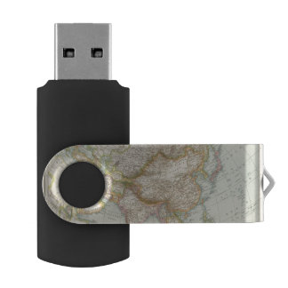 Asien - Map of Asia USB Flash Drive