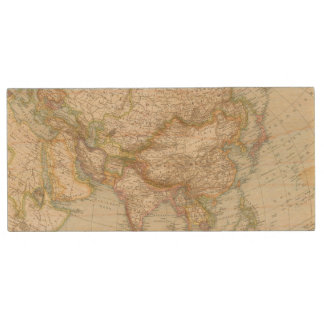 Asien - Map of Asia Wood USB Flash Drive