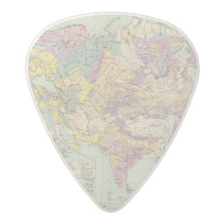 Asien u Europa - Atlas Map of Asia and Europe Acetal Guitar Pick