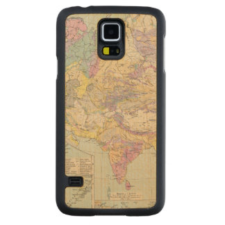 Asien u Europa - Atlas Map of Asia and Europe Carved Maple Galaxy S5 Case