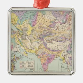 Asien u Europa - Atlas Map of Asia and Europe Christmas Ornament