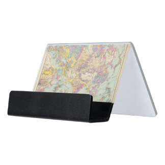 Asien u Europa - Atlas Map of Asia and Europe Desk Business Card Holder