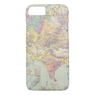 Asien u Europa - Atlas Map of Asia and Europe iPhone 8/7 Case