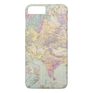 Asien u Europa - Atlas Map of Asia and Europe iPhone 8 Plus/7 Plus Case