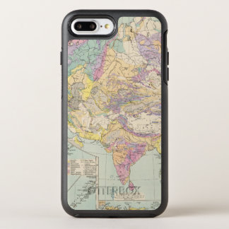Asien u Europa - Atlas Map of Asia and Europe OtterBox Symmetry iPhone 7 Plus Case