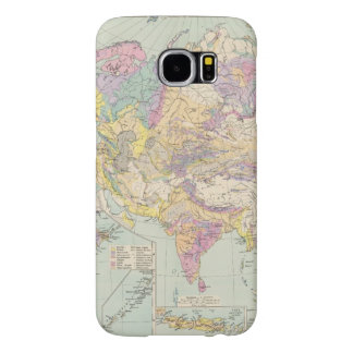 Asien u Europa - Atlas Map of Asia and Europe Samsung Galaxy S6 Cases