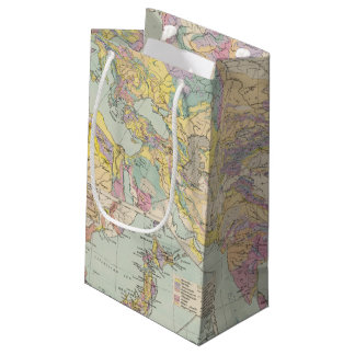 Asien u Europa - Atlas Map of Asia and Europe Small Gift Bag
