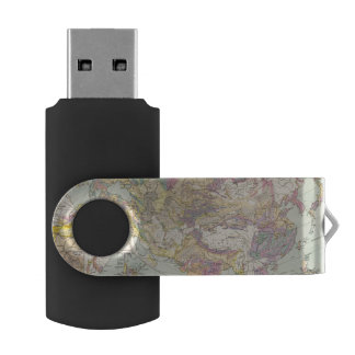 Asien u Europa - Atlas Map of Asia and Europe USB Flash Drive