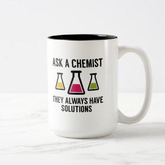 Ask A Chemist Two-Tone Mug