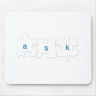 Ask About Autism Cup Mouse Mat