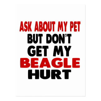 Ask About my Beagle Postcard