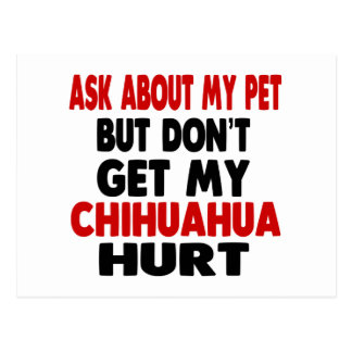 Ask About my Chihuahua Postcard