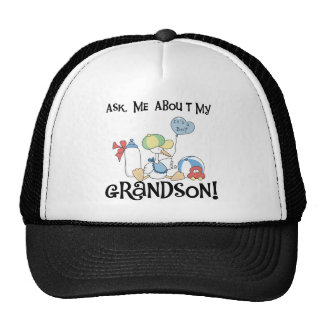 Ask About My Grandson Tshirts and Gifts Hat