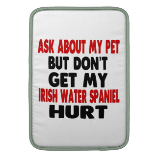 Ask About my Irish Water Spaniel MacBook Sleeves