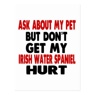 Ask About my Irish Water Spaniel Postcard