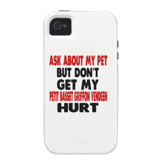 Ask About my Petit Basset Griffon Vendeen iPhone 4/4S Cover