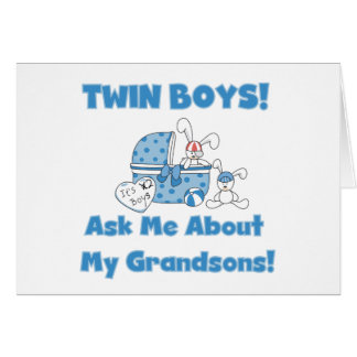 Ask About My Twin Grandsons Card