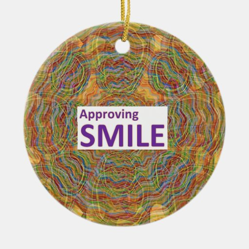 Ask for: APPROVING SMILE : Couples SECRET CODE Christmas Ornaments