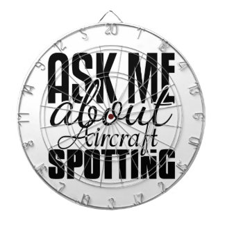 Ask Me About Aircraft Spotting Dartboard With Darts