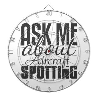 Ask Me About Aircraft Spotting Dartboards