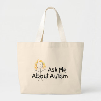 Ask Me About Autism Jumbo Tote Bag