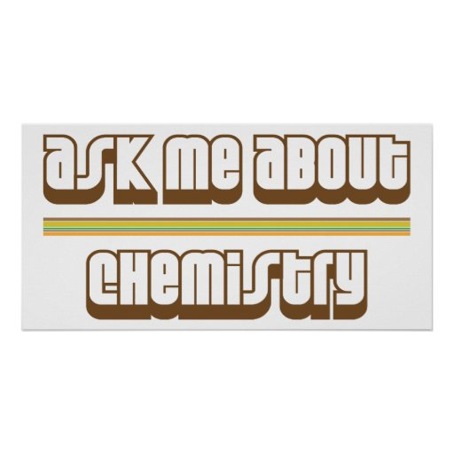 Ask Me About Chemistry Poster