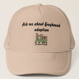 Ask me about Greyhound adoption hat