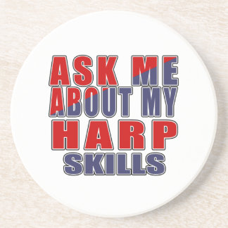 ASK ME ABOUT HARP MUSIC COASTER