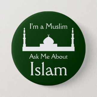 Ask Me About Islam 7.5 Cm Round Badge