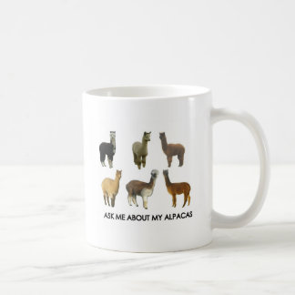 Ask me about my alpacas coffee mug