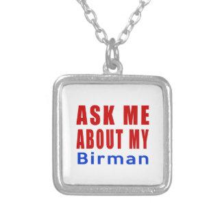 Ask me about my Birman Square Pendant Necklace