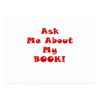 Ask Me About My Book Postcard