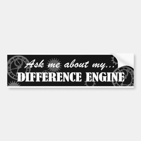 ASK ME ABOUT MY DIFFERENCE ENGINE BUMPER STICKER