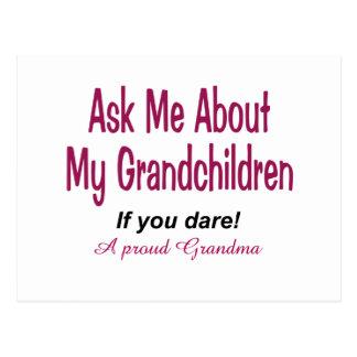 Ask me about my grandchildren! postcard
