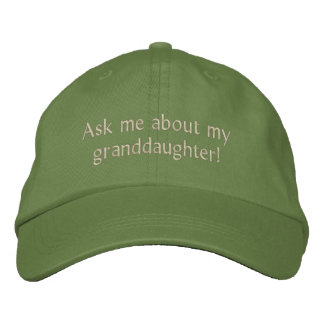 Ask me about my granddaughter! Hat Baseball Cap