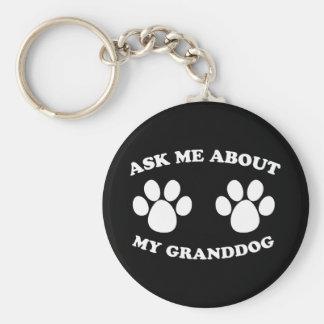 Ask Me About My Granddog (Dark) Keychains