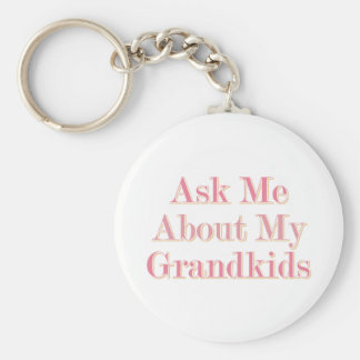 Ask Me About My Grandkids Keychains