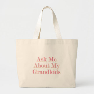 Ask Me About My Grandkids Jumbo Tote Bag