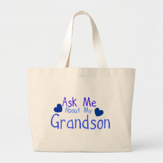 Ask me about my Grandson! Jumbo Tote Bag