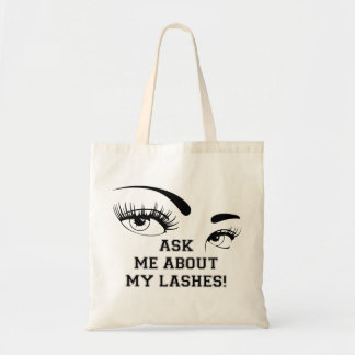 ASK ME ABOUT MY LASHES TOTES BAG