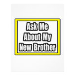 Ask Me About My New Brother Full Colour Flyer