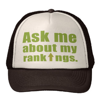 Ask me about my rankings mesh hat